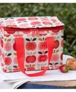 son motif rétro à pommes.