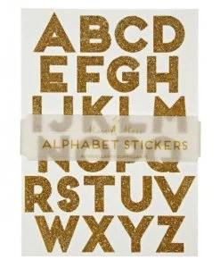 Stickers alphabet Or Meri Meri