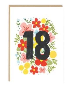 Carte anniversaire 18 ans Jade Fisher