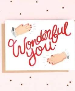 Carte Wonderful you Jade Fisher