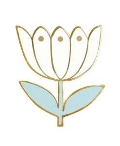 Pin's tulipe blanche Mini Labo