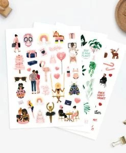 Stickers All The Ways To Say – 3 planches
