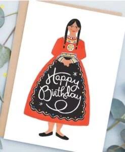 Carte anniversaire Amérindienne Jade Fisher