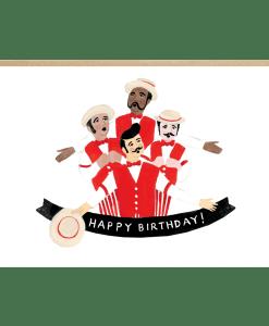 Carte anniversaire Canotiers Jade Fisher