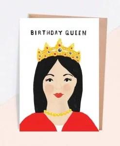 Carte anniversaire Birthday queen Jade Fisher
