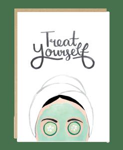 Carte message Treat yourself Jade Fisher