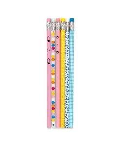 Crayons à papier fantaisies- lot de 6