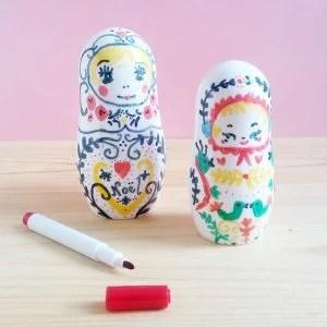poupees russes à décorer