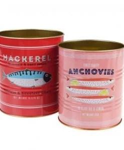 Set de 2 pots en métal – Boîtes de conserve poisson