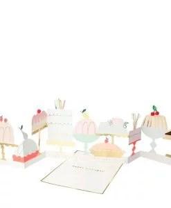 Carte accordéon à poser Gâteaux d'anniversaire