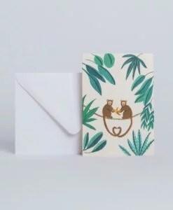 Carte à message Monkey Season Paper