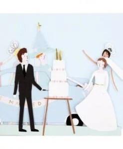 Carte accordéon Just Married Meri Meri