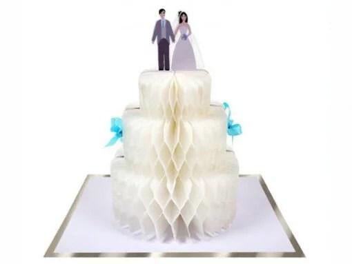 Carte à poser Gâteau de mariage Meri Meri