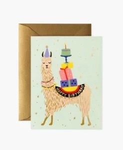 Carte anniversaire Lama Rifle Paper Co