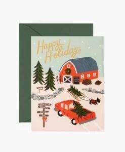 Carte de voeux Holiday Tree Farm Rifle Paper