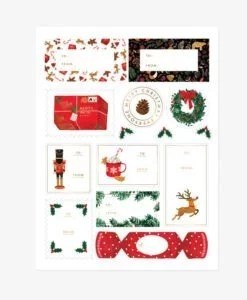 Stickers cadeaux de Noël All The Ways To Say – 3 planches