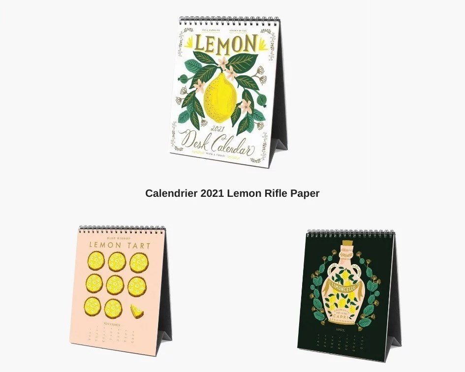calendrier 2021 lemon riflepaper
