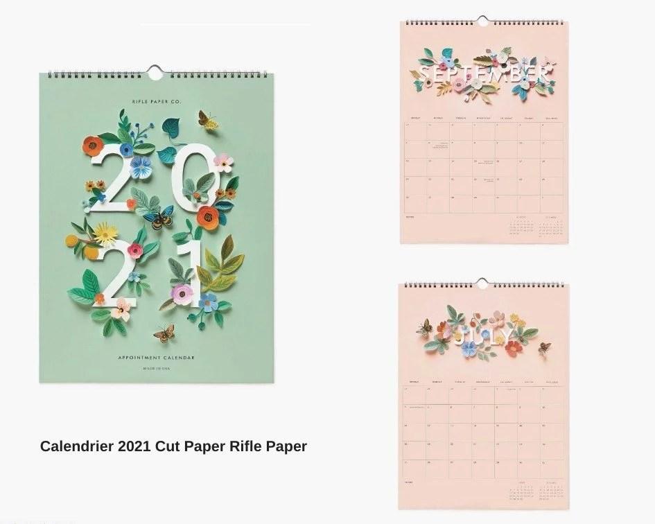 calendrier cut paper riflepaper 2021