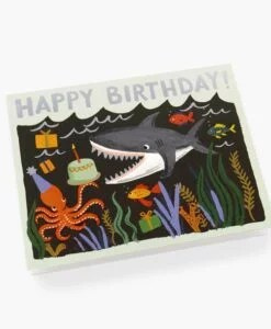 Carte anniversaire requin Rifle Paper Co