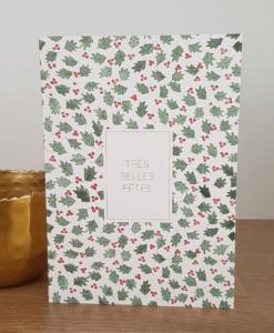 Carte de voeux Très Belles Fêtes Petit Gramme