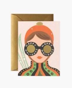 Carte de voeux Ski girl Rifle Paper Co