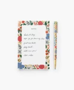 Stylo Wild Rose Rifle Paper Co mine rechargeable