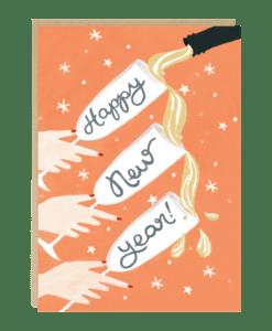 Carte Bonne année Champagne Jade Fisher