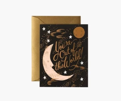 Carte à message You're Out Of This World Rifle Paper