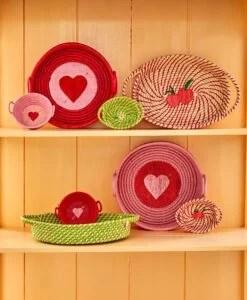 Panière ronde Coeur – Coloris au choix