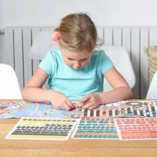 Puzzle à stickers Animaux sauvages (5-10 ans)