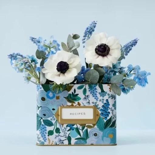 Boîte à recettes Rifle Paper Garden Party Blue