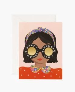 Carte anniversaire Headband Birthday Girl