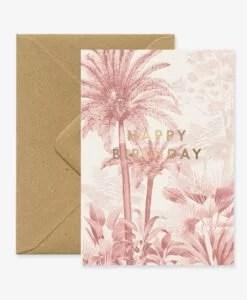 Carte anniversaire Pink Forest