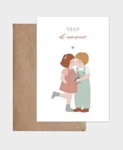 Carte Les petits amoureux Atelier Oranger