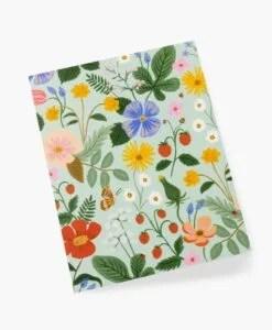Carte florale Strawberry Fields Rifle Paper – Mint