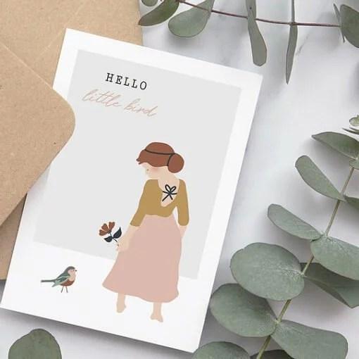 Carte Hello Little Bird Atelier Oranger