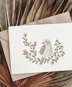 Carte La couronne de l'oiseau Atelier Oranger