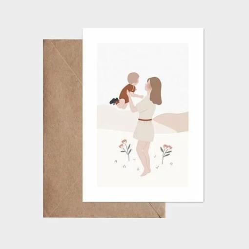 Carte La danse mère-enfant Atelier Oranger