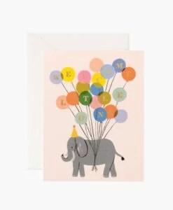Carte naissance Elephant Rifle Paper