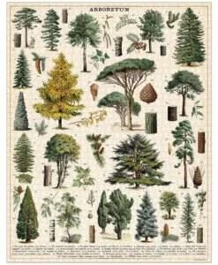 Puzzle Arbres Forêt 1000 pièces Cavallini