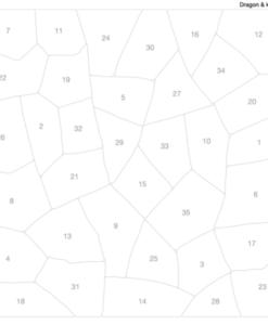 Puzzle à stickers Dragon et chevaliers (5-10 ans)
