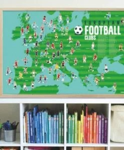 Poster éducatif + 60 stickers – Football (6-12 ans)