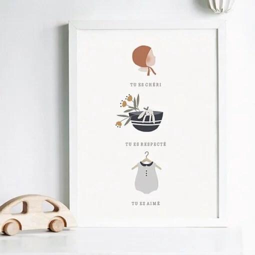 Affiche A4 Tu es aimé Atelier Oranger – Garçon