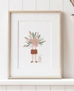 Affiche A4 Le gros bouquet Atelier Oranger