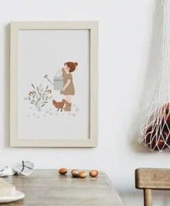 Affichette Au jardin Atelier Oranger