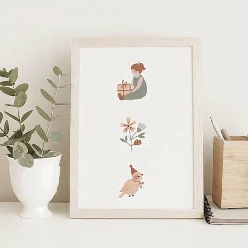 Affichette Friends compagnie 4 Atelier Oranger