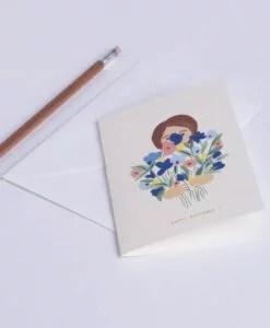 Carte anniversaire Happy Flowers Season Paper