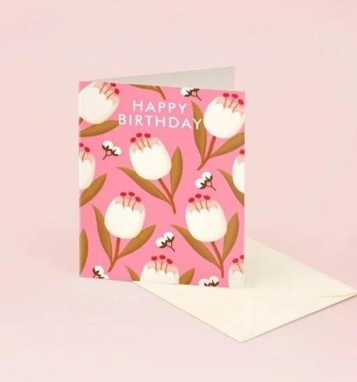 Carte anniversaire Tulipes