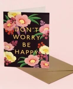 Carte Don't worry be happy Clap Clap