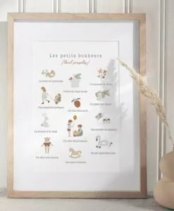 Poster Les petits bonheurs Atelier Oranger